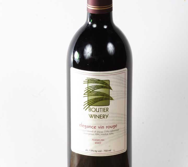 boutier elegance vin rouge
